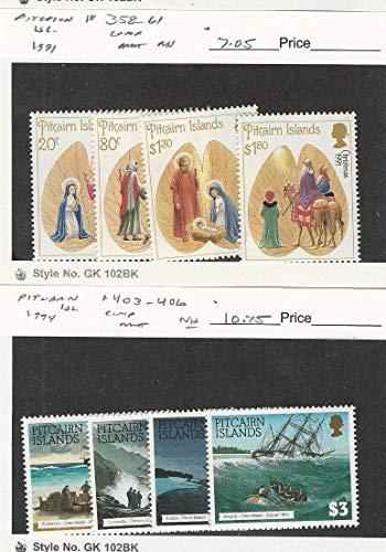 Pitcairn Islands, Postage Stamp, 358-361, 403-406 Mint NH, 1991-94, JFZ