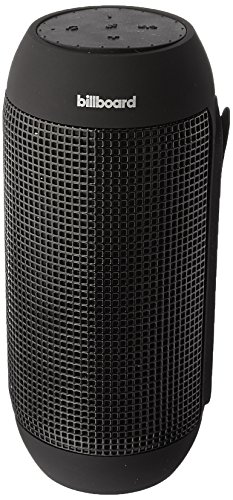 Billboard IPX5 Water-Resistant Bluetooth Wireless Speaker With Enhanced Bass, USB & SD Inputs, and Mini Stereo Inputs - BLACK