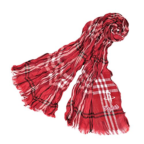 Littlearth NBA Houston Rockets Plaid Crinkle Scarf by Littlearth