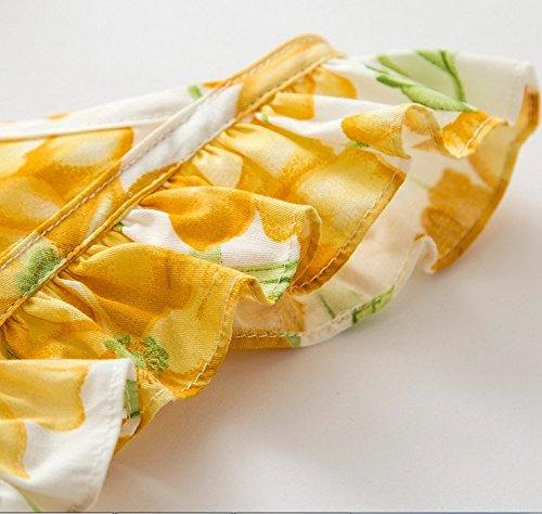 per Ruffle fiori Agogo dipinto 100 fiore Dress cotone le 0 Harness Girl giallo vintage 24 neonate stampa Princess 2017 mesi nHqqPwYrf8