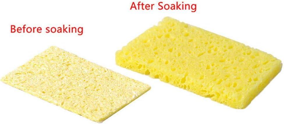 Soldering 10 Pcs Pads Welding Durable Cleaning Sponge Tip Lightweight Soldering Iron