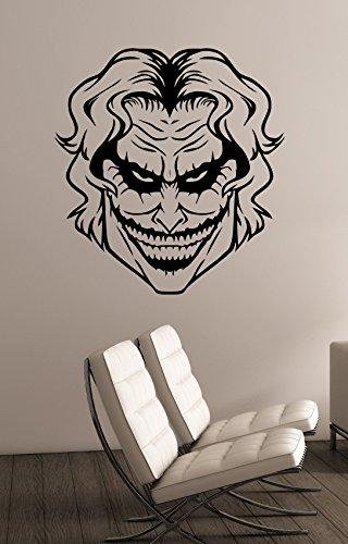 Joker Wall Decal Removable Vinyl Sticker DC Comics Movie Superhero Art Decorations for Home Kids Living Room Bedroom Dorm Decor (Super Scary Stuff)
