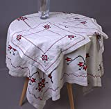 Handmade Embroidered Ukrainian Linen 145x145 cm / 57x57'' + 4 napkins THANKSGIVING DAY SALE