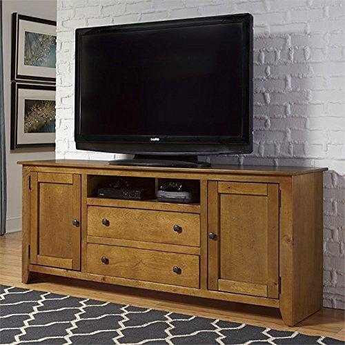 68 in. TV Console in Medium Pine Finish