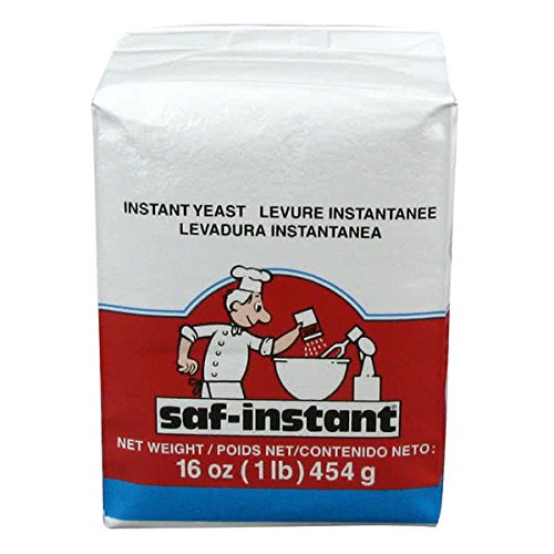 TableTop King Lesaffre SAF-Instant Red Dry Yeast 1 lb. Vacuum Pack - 20/Case
