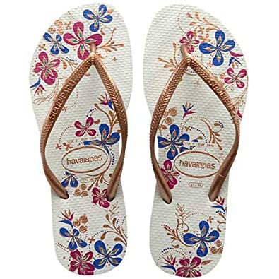 ea9e38e9357d Womens Havaianas Slim Season White Rose Gold Flip Flops Sandals ...