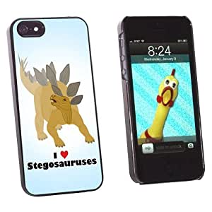 phone covers Graphics and More I Love Heart Stegosauruses - Dinosaur Snap-On Hard Protective Case for Apple iPhone 5c - Non-Retail Packaging - Black
