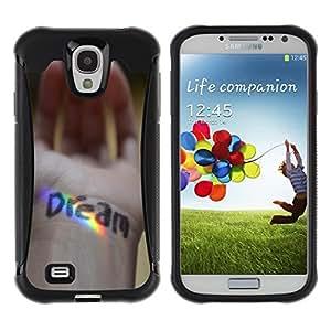 Suave TPU GEL Carcasa Funda Silicona Blando Estuche Caso de protección (para) Samsung Galaxy S4 IV I9500 / CECELL Phone case / / Dream Message Hand Rainbow Spectrum /