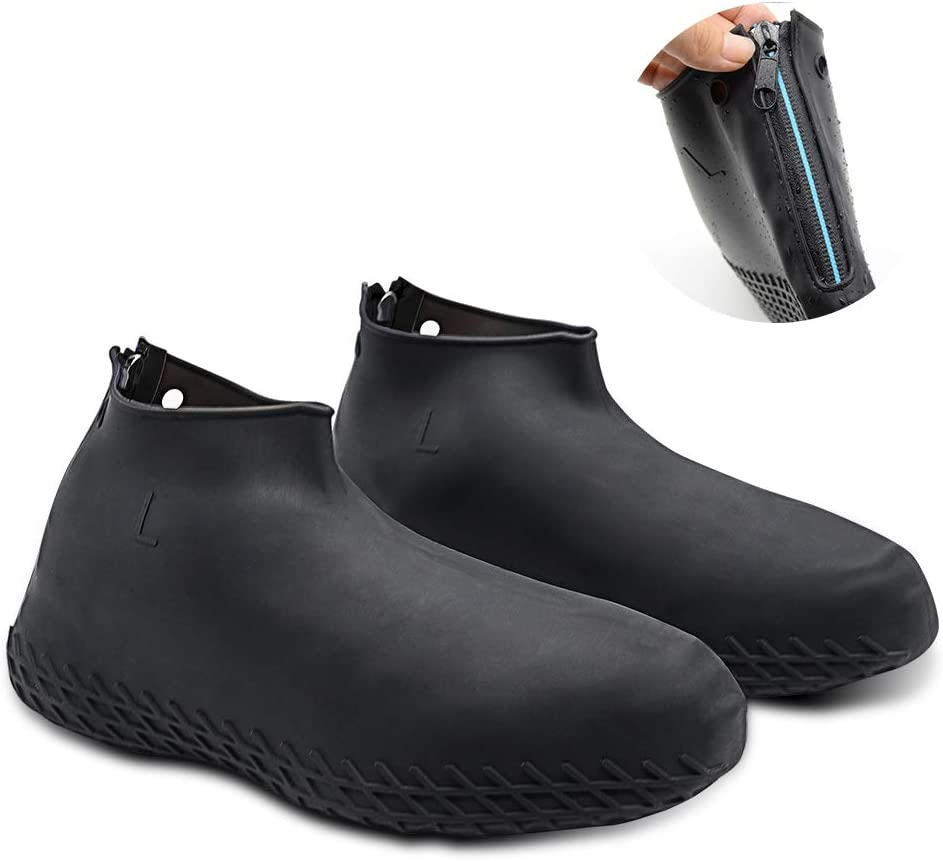 Silicone Rain Boot Cover,Wisolt Waterproof Shoe Covers Reusable,Thicken Non-slip Traveling Elasticity Gear Boot Overshoes for Kid//Women//Men