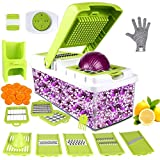 Vegetable Chopper, ONSON Food Chopper Cutter Onion Slicer Dicer, 10 in 1 Veggie Slicer Manual Mandolin Slicer for Garlic, Cabbage, Carrot, Potato, Tomato, Fruit, Salad