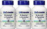 Life Extension N-Acetyl Cysteine 600 Mg, 60 vegetarian caps x 3