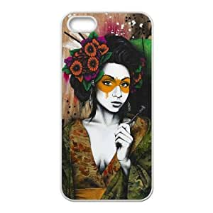 Mixed Media Geisha iPhone 4 4s Cell Phone Case White Rrtuj