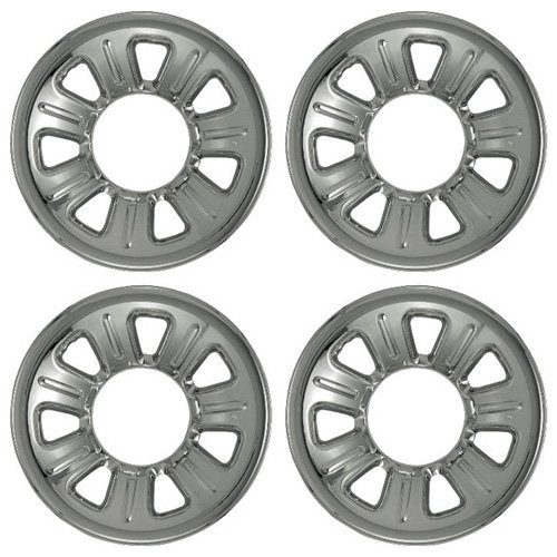 Set of 4 Chrome Wheel Skin Hubcaps: Ford Ranger (2001 - 2011) & Mazda B series (2001 - 2010) 15x7 Inch 5 Lug 7 Slot Steel Rim -Aftermarket: IMP/21