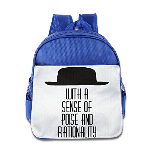 HYRONE Poise And Rationality Cap Logo Boys And Girls School Bagpack Bag For 1-6 Years Old RoyalBlue