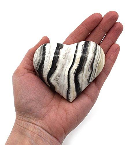 Chic Zebra Onyx Heart Figure, 3
