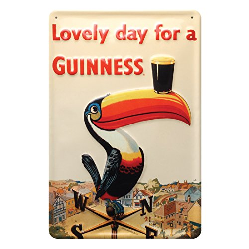 With Iconic Toucan On A Weathervane (20Cm X 30Cm) (Patricks Day Plaque)