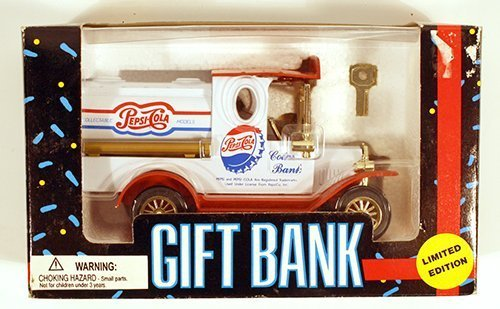 (Limited Edition Die Cast Metal Pepsi Cola Gift Bank by Golden Wheel)