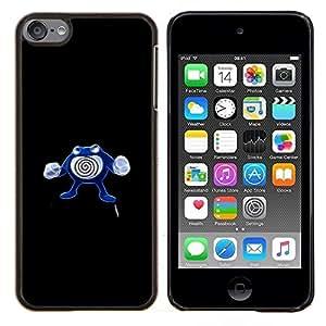 Empuje Monter Remolino- Metal de aluminio y de plástico duro Caja del teléfono - Negro - iPod Touch 6