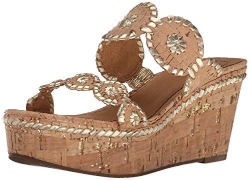 Jack Rogers Women's Leigh Platform Sandal Gold Fleck/Cork 39tXCN