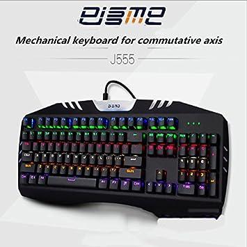 Teclado Teclado mecánico, Juego de luz de Fondo, Green Axis, 104 Teclas, Equipo de Juegos de Mesa, Oficina en casa Teclado (Color : Black): Amazon.es: ...