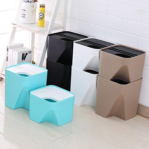 Aufbewahren & Ordnen XTXWEN Kunststoff Mülleimer Können Mit Mülleimern Küchen Mit Kunststoffabdeckungen Großen Europäischen Mülleimern Gestapelt Werden