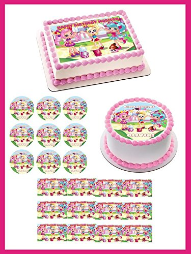 Shopkins Cupcake Toppers Edible Wafer Paper BUY 2 GET 3RD FREE!