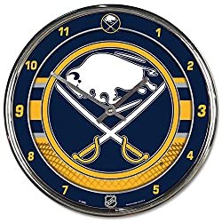 Wincraft Buffalo Sabres 12 inch Round Wall Clock Chrome Plated