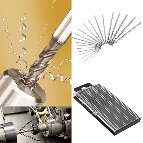 ZicHEXING 20 Pcs 0.3mm-1.6mm Mini HSS Metalworking Power Tool Professsional High Speed Steel Twist Drill Bit Set with Case