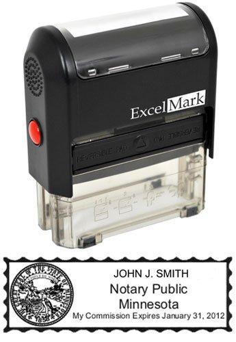 ExcelMark Self Inking Notary Stamp - Minnesota