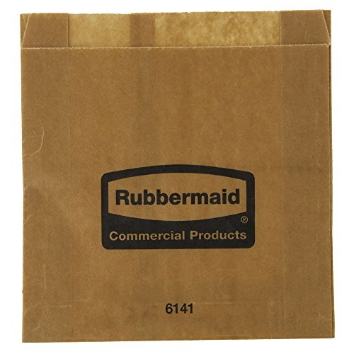 (Rubbermaid White Paper Sanitary Napkin Bags for Sanitary Napkin Dispenser)