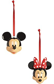 primark disney mickey and minnie 2pack christmas bauble decorations