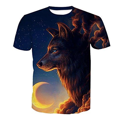 Homme Style Acvip Rond 22 Shirt Manches Imprimé Animal Courtes Col OcqTgwU6qW