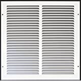 """14"""" x 14"""" RETURN GRILLE - Easy Air FLow - Flat Stamped Face"""