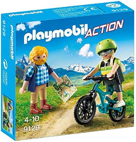 PLAYMOBIL- Ciclista y Excursionista Juguetes, Multicolor (9129)