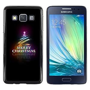 Pulsar Snap-on Series Teléfono Carcasa Funda Case Caso para Samsung Galaxy A3 , Black Christmas Neon Lumières Arbre