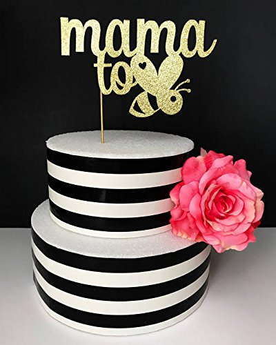 Mama to bee cake topper- baby shower cake topper- sprinkle cake topper- mommy to be cake topper- bumble bee cake topper