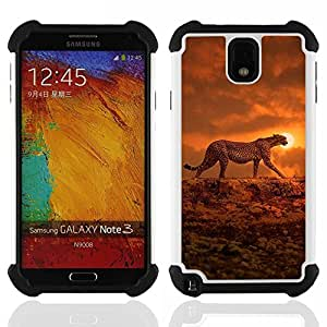 King Case - ocelot sunset orange African animal - Cubierta de la caja protectora completa h???¡¯???€????€?????brido Body Armor Protecci?&f
