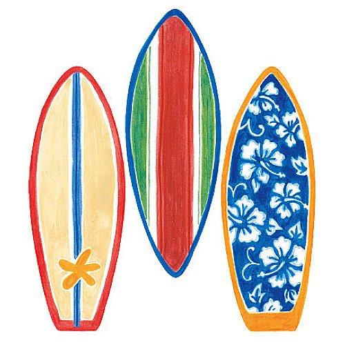 Wallies 12193 Surfboard Wallpaper Cutout