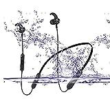 IPX7 Bluetooth Headphones v4.2,KSHOP Wireless Sports Earbuds Waterproof HD Stereo Bluetooth Sports Headset Call 14 Hours Rear-Mounted Sports Wireless Music Headset (Black)