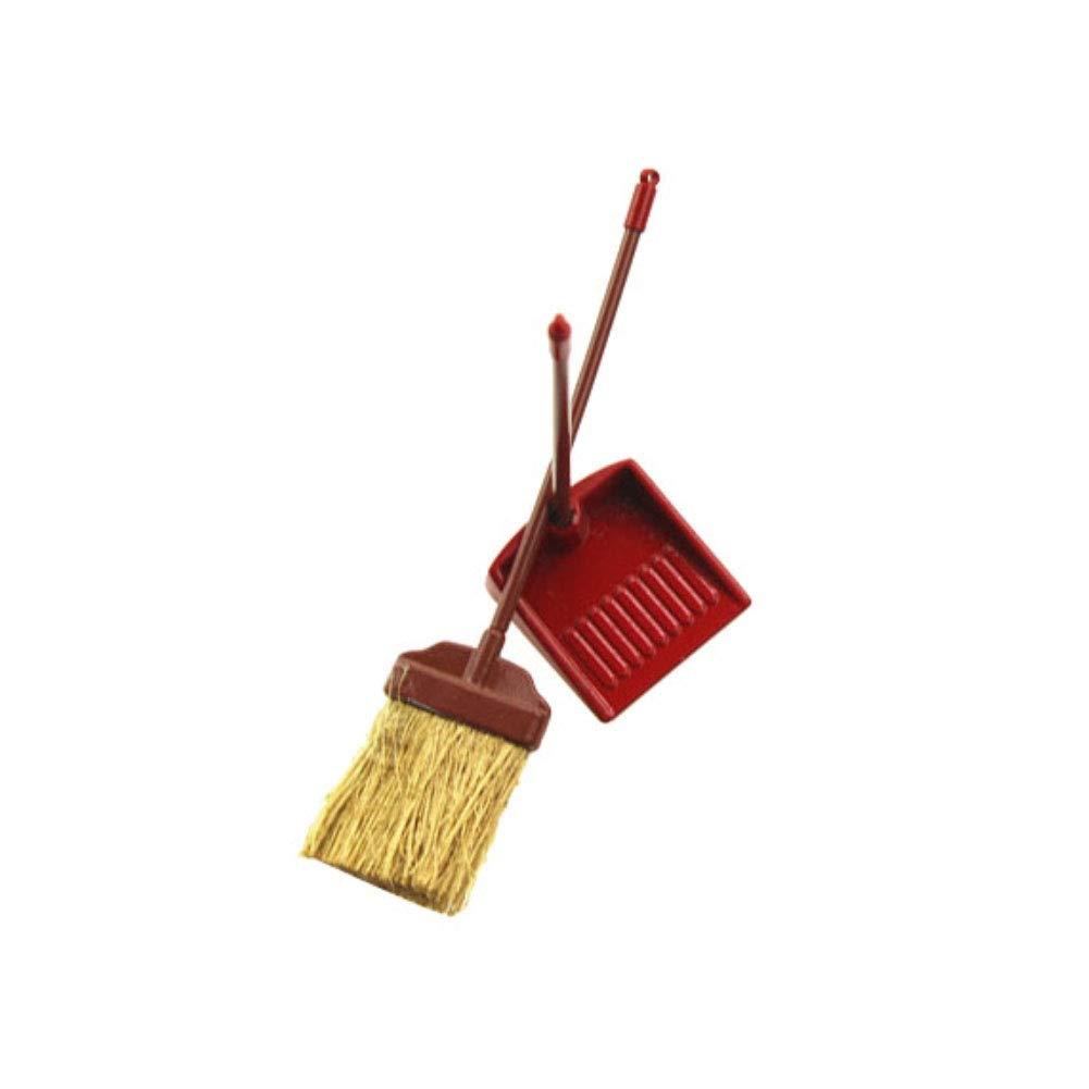 Pelle /à poussi/ère Mod/èle Jouet en Alliage Miniature Accessoires adorables qhtongliuhewu Mini Balai 2 pi/èces