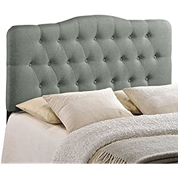 Amazon Com Modway Lily Upholstered Tufted Linen Fabric