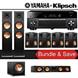 Klipsch RP-280F 7.1-Ch Reference Premiere Home Theater Package with Yamaha AVENTAGE RX-A3070BL 11.2-Channel Network AV Receiver