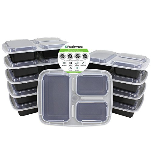Freshware NC-3X10 Food Container, 9.8 x 7.5 x 1.5 inch