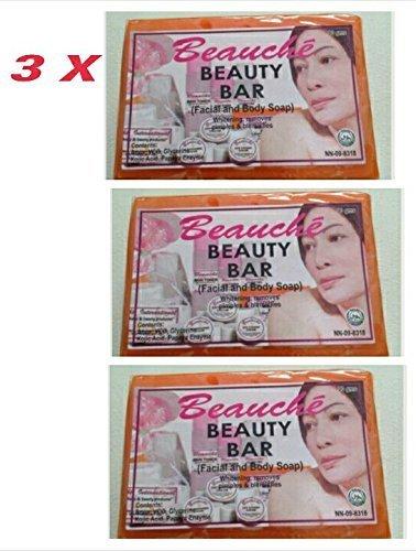 3 Pack Beauche Kojik Facial & Body Bar Soap
