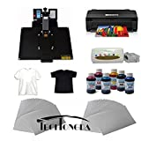 16''X24'' Flat Heat Press A3 Epson Printer Paper Ink CISS Start-up KIT T-shirts