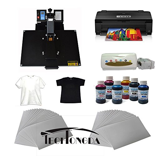 16''X24'' Flat Heat Press A3 Epson Printer Paper Ink CISS Start-up KIT T-shirts by Heat Transfer Packages