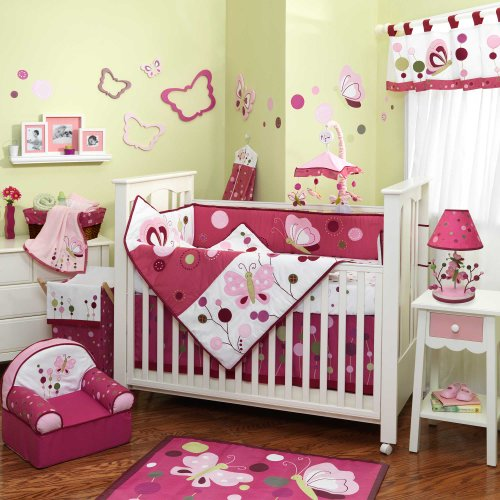 Amazon.com : Raspberry Swirl 6 Piece Baby Crib Bedding Set With Bumper By  Lambs U0026 Ivy : Crib Bedding Sets For Girls : Baby