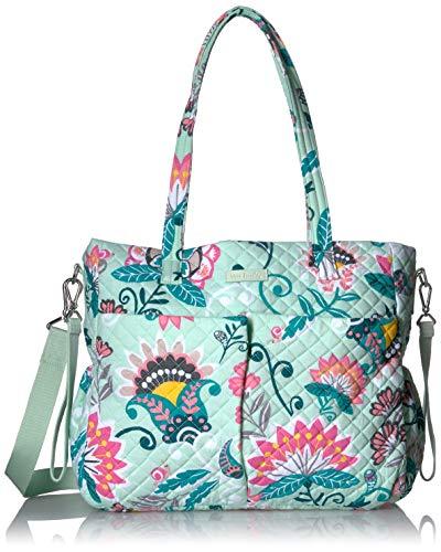 Vera Bradley Iconic Ultimate Baby Bag, Signature Cotton, Mint Flowers