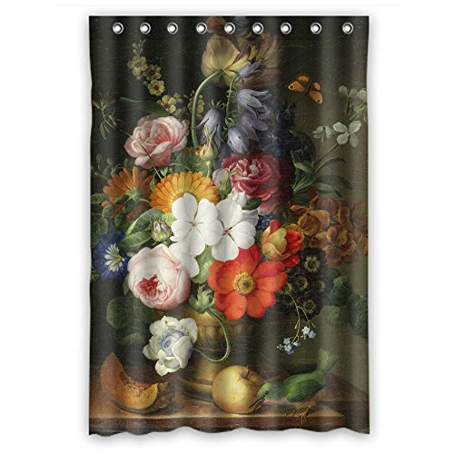 - NASAZONE Polyester Bathroom Curtains Of Famous Classic Art Painting Flowers Blossoms For Him Birthday Valentine Father Wife. Home Fashion Width X Height / 48 X 72 Inches / W H 120 By 180