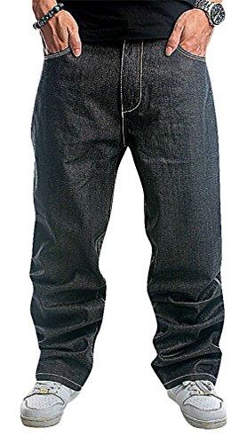 CELINO Men's Stylish Hip Hop Jeans Loose Denim Pants, Black 40 ,Manufacturer(42) by CELINO